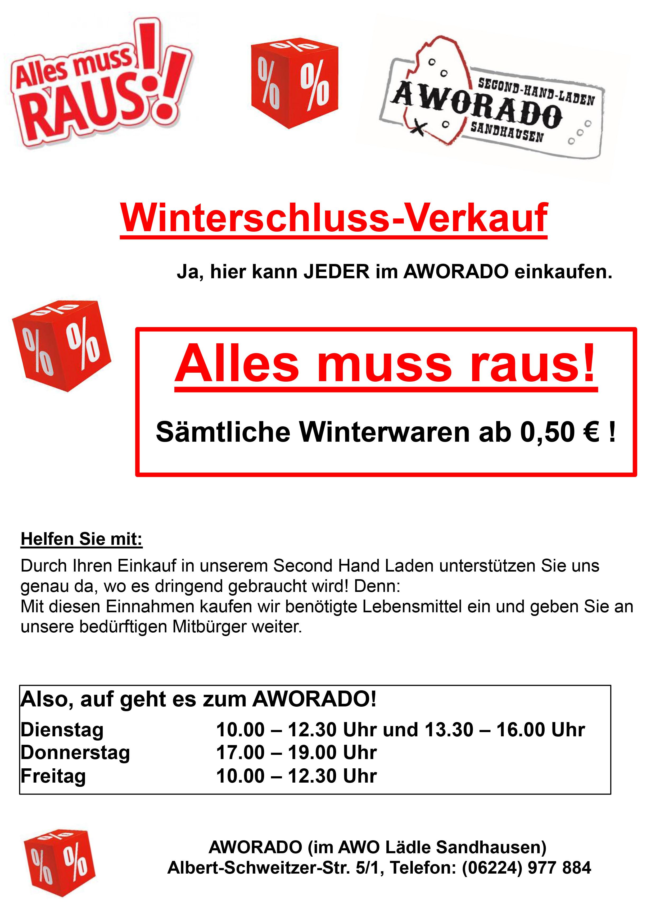 Wir brauchen Ihre Unterstützung ! – AWO Sandhausen
